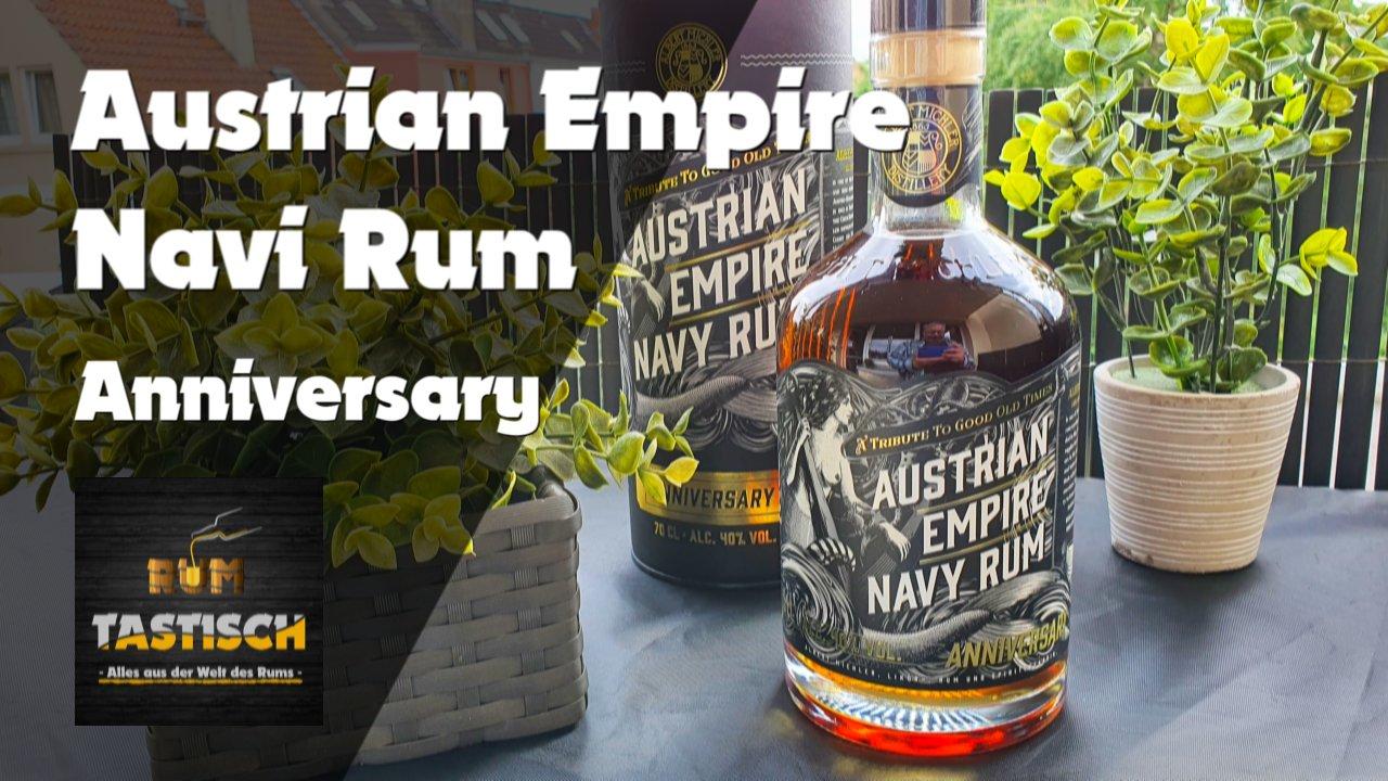 Read more about the article Austrian Empire Navy Rum – Anniversary 40% | Rum-Tasting 🥃 Alles Gute zum 100-sten!