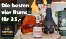 Die 4 besten Rums für 35,- Euro | Rum-Tipp 🥃 Die vier besten Rums für jeden Geschmack
