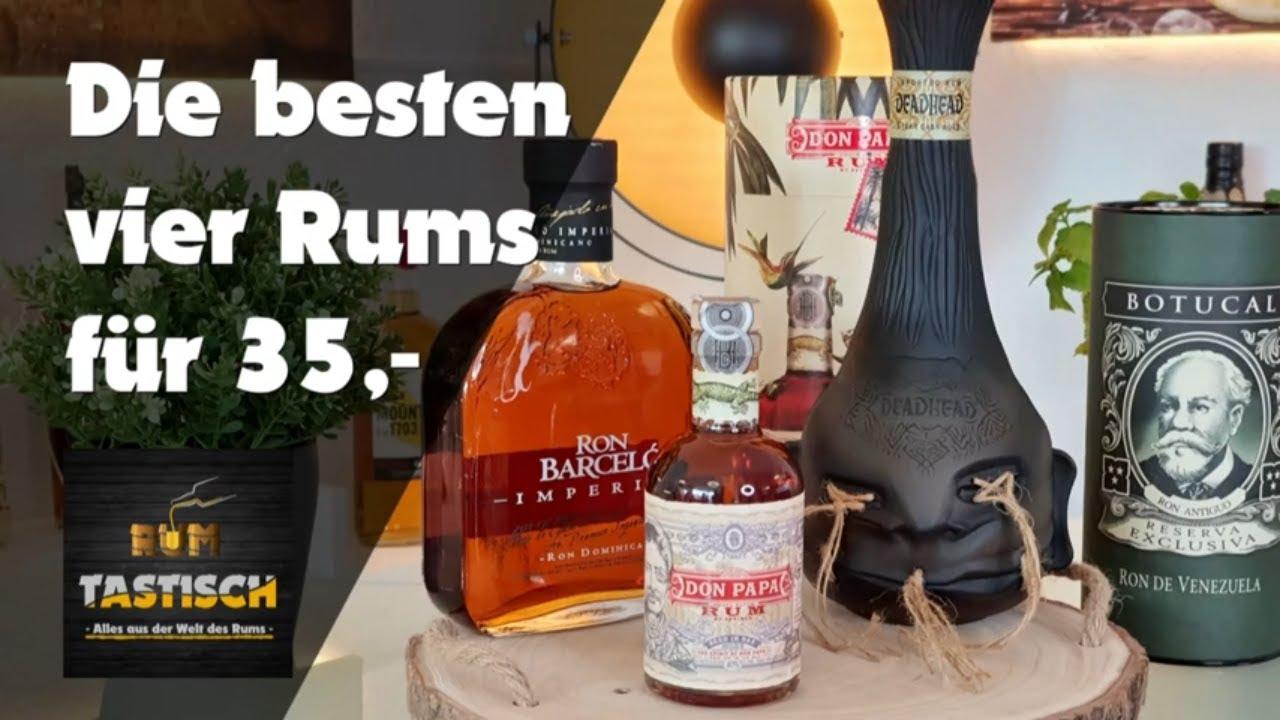 Read more about the article Die 4 besten Rums für 35,- Euro | Rum-Tipp 🥃 Die vier besten Rums für jeden Geschmack