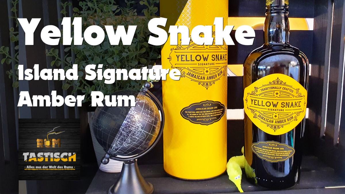Read more about the article Island Signature Yellow Snake Jamaican Amber Rum 40% | Rum-Info & Tasting 🥃 Gelber Schlangen-Rum?
