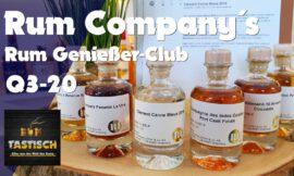 Rum Genießer-Club-Lieferung Q3-20 (Rum Company) | Rum-Tasting 🥃 [RGC/Q3-20]