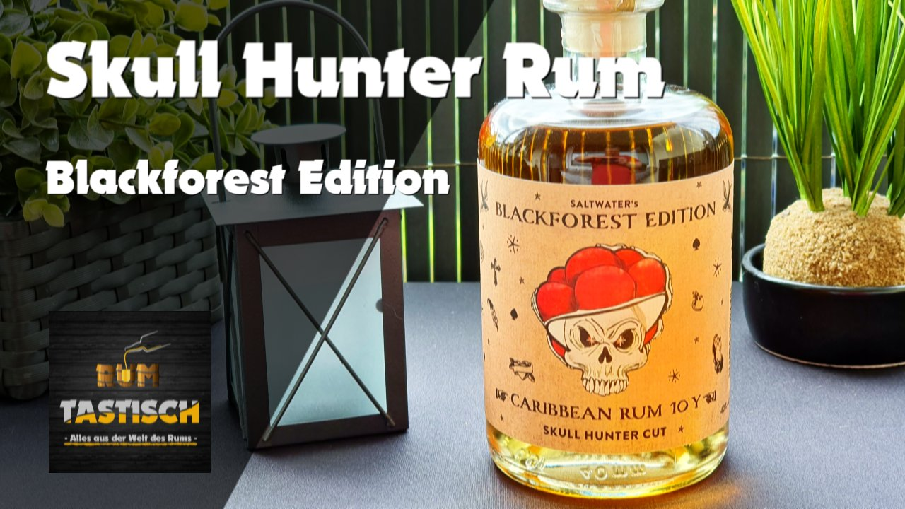 Read more about the article Skull Hunter Rum – Blackforest Edition 40% | Rum-Info & Tasting 🥃 Skull Hunter´s Lady is watching you!