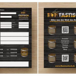 Tasting-Notiz-Blätter für Dein Rum-Tasting (bei Sample-Kauf je 1 inklusive)